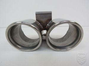 Eindstuk voor uitlaatdemper OE-look, Ø 95mm, Roestvrij staal